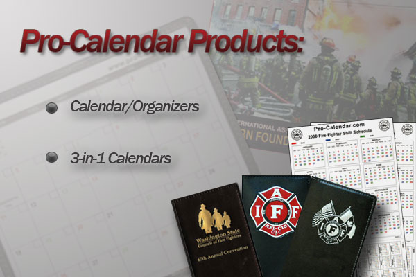 pro-calendar products, organizers, wall calendars and 3-in-1's